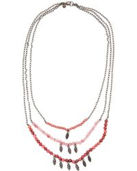 Lydell NYC - Three-row Semiprecious Layered Necklace - Lyst