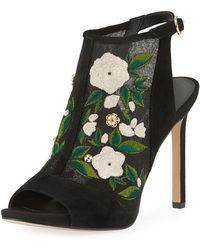 e5edc74f5c7 Karl Lagerfeld - Karter Embroidered Sandals - Lyst