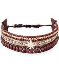 Chan Luu - Three-strand Pull-tie Bracelet In Dark Red - Lyst