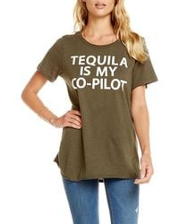 Chaser - Tequila Is My Co-pilot Distressed Tee - Lyst