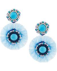 Nakamol - Beaded Fringe Double Circle Drop Earrings - Lyst