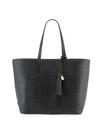 Cole Haan Payson Woven Leather Tote Bag - Black