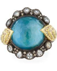 Armenta - Old World Triplet Diamond & Sapphire Hermes Ring - Lyst