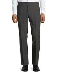 Incotex Men's Benson Check Wool Pants - Brown