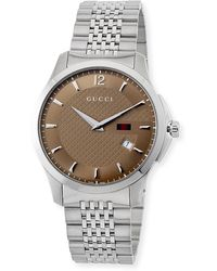 92db66b11c6 Lyst - Gucci G-timeless Large Blue Dial Steel Bracelet in Metallic ...