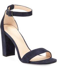 Pelle Moda - Bonnie High Suede Sandals - Lyst