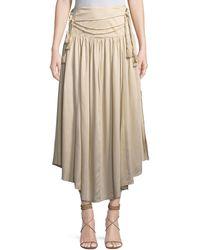 Philosophy - Tassel-belt Ruffled Maxi Skirt - Lyst