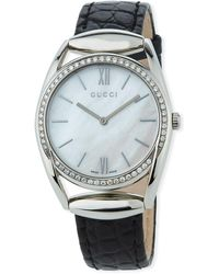Gucci - 34mm Horsebit Watch W/ Leather Strap - Lyst