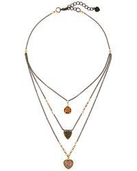 Nakamol Multi-stone Layered Necklace - Metallic