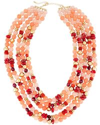 Lydell NYC - Multi-strand Necklace W/ Pearls - Lyst
