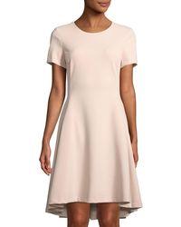 Donna Karan - Short-sleeve A-line High-low Dress - Lyst