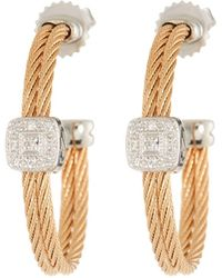 Alor - Classique Diamond-station Hoop Earrings - Lyst