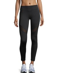 Marc New York - Long Compression Leggings With Mesh - Lyst