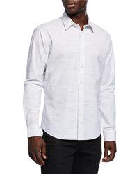Neiman Marcus - Men's Slim-fit Wear-it-out Slub Space-dye Sport Shirt - Lyst