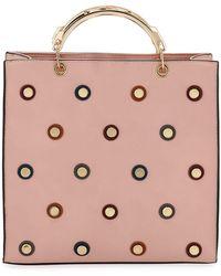 Neiman Marcus - Confetti Studded Satchel Bag - Lyst