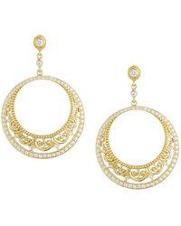 Penny Preville - Medieval Lace 18k Gold & Diamond Hoop Drop Earrings - Lyst