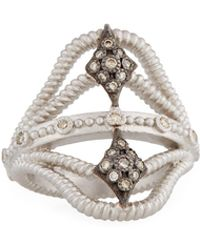 Armenta - New World Twisted Ring W/ Champagne Diamonds Size 7 - Lyst