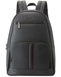 d99b78600bae Lyst - Michael Kors Wythe Large Perforated Leather Backpack in Black