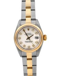 Rolex - Pre-owned 26mm Datejust Automatic Diamond Watch - Lyst