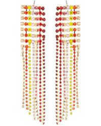 Lydell NYC - Multicolor Crystal Chandelier Earrings - Lyst