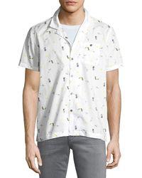 Michael Bastian - Pina Colada Short-sleeve Sport Shirt - Lyst