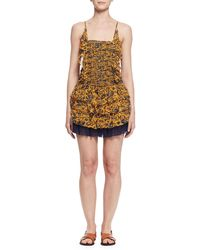 Étoile Isabel Marant - Batson Tiered Floral Silk Mini Dress - Lyst