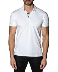Jared Lang - Line-dot Revers Pique Polo Shirt - Lyst