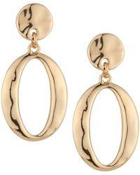 Lydell NYC - Golden Hoop Drop Earrings - Lyst