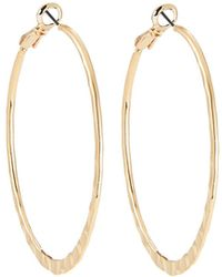 Lydell NYC - Hammered Hoop Earrings - Lyst