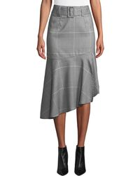 Romeo and Juliet Couture - Ruffle-hem Check Pencil Skirt - Lyst