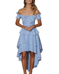 StyleKeepers - Blissful Moments Off-the-shoulder Dress - Lyst
