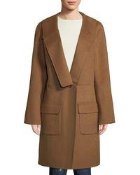 Leon Max - Knee-length Wool-blend Coat - Lyst