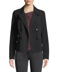 Leon Max - Double Breasted Patch-pocket Blazer Jacket - Lyst