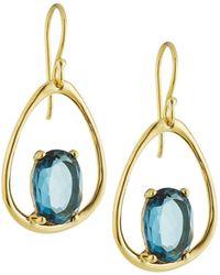 Ippolita - 18k Rock Candy Small Suspension Earrings In London Blue Topaz - Lyst