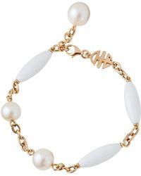 Mimi So - 18k White Agate & Pearl Bracelet - Lyst