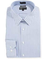 Neiman Marcus - Men's Trim-fit Non-iron Striped Dress Shirt - Lyst