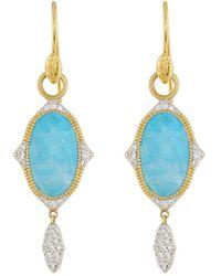 Jude Frances - 18k Moroccan Oval Drop Earrings - Lyst