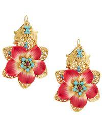 Jose & Maria Barrera - Large Resin Flower Earrings - Lyst