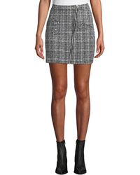 Romeo and Juliet Couture - Tweed Asymmetric Zip Mini Skirt - Lyst