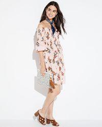 Donna Morgan - Smocked Off-the-shoulder Floral Dress - Lyst