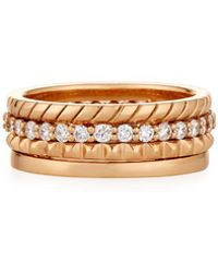 Penny Preville - 18k Diamond Stacking Band Ring Set - Lyst