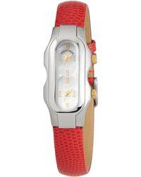 Philip Stein - Mini Signature 2-dial Watch Red/steel - Lyst