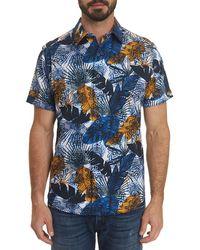 Robert Graham Men's Palm Bay Sport Shirt - Blue