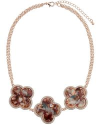 Romeo and Juliet Couture - Triple Flower-bib Necklace - Lyst