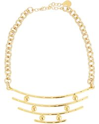 Devon Leigh Bullet & Bar Pendant Necklace - Metallic