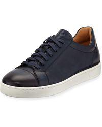 Neiman Marcus - Men's Hand Antiqued Distressed Calf Sneakers - Lyst