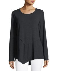 Metric Knits - Exposed-seam Boat-neck Tee - Lyst