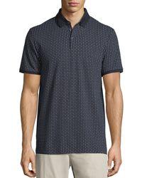 Neiman Marcus - Mini-floral Pique Polo Shirt - Lyst