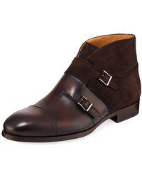 Neiman Marcus - Men's Octavian High-top Chukka Shoes - Lyst