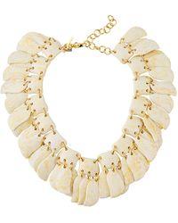 Lele Sadoughi - Iris Petal Shaker Necklace White - Lyst
